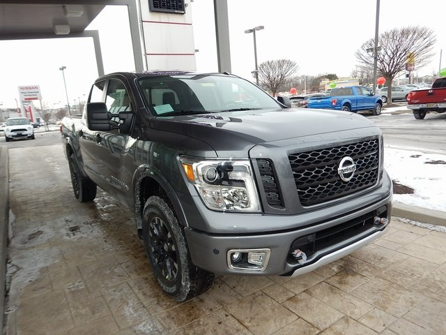 new 2018 nissan titan pro 4x 4d crew cab in new castle t8005 sheridan nissan. Black Bedroom Furniture Sets. Home Design Ideas